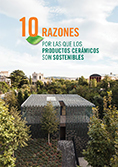 """portada Folleto """"Diez razones por las que los productos cerámicos son sostenibles"""""""